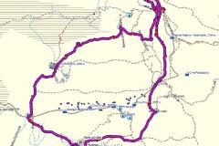 k-GPS Umrundung Drei Zinnen
