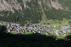 Blick ins Saas-Tal