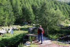 Auf dem Almageller Höhenweg zur Almagelleralp