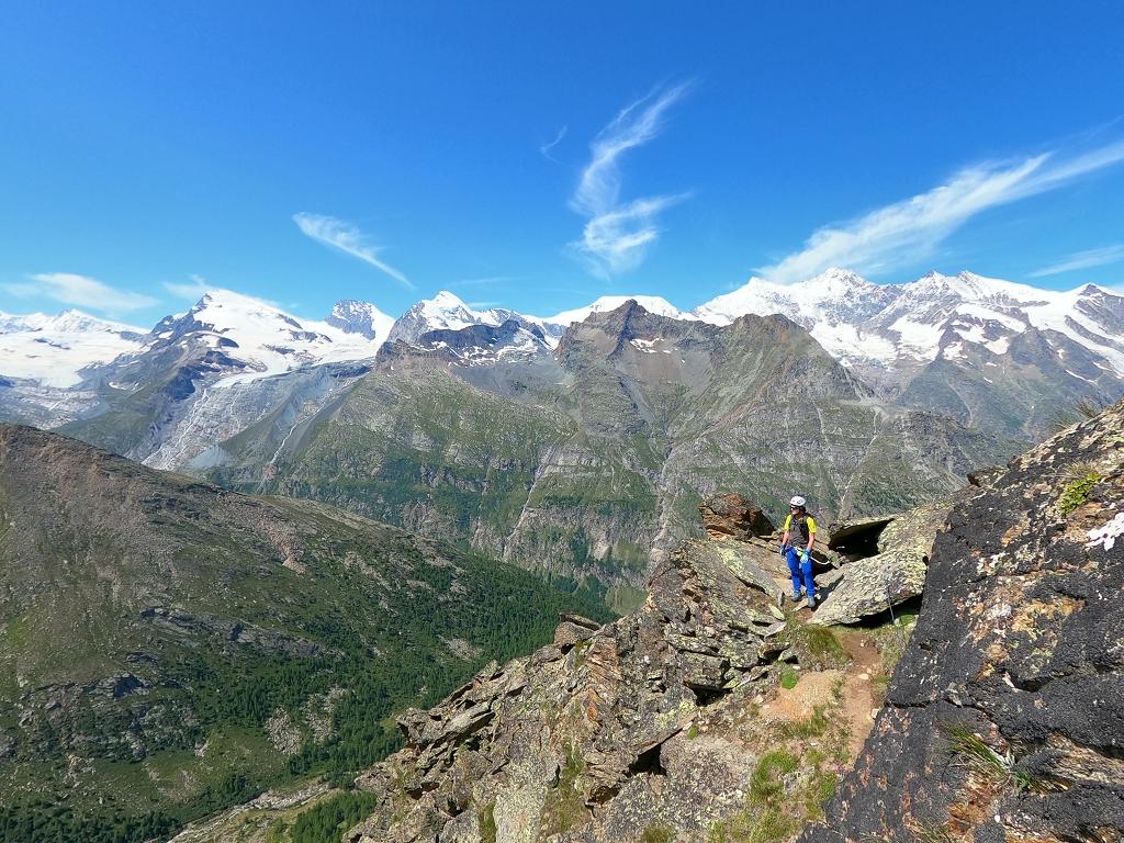 Aufstieg zum Almagellerhorn via Klettersteig