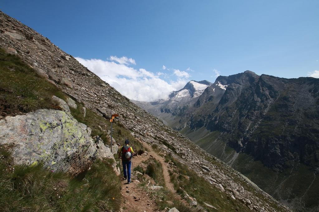 Abstieg vom Panoramaplatz nach Heidbodme