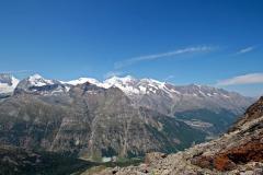 Aufstieg zum Almagellerhorn - Aussicht genießen