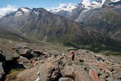 Aufstieg zum Almagellerhorn - steiles Blockgelände