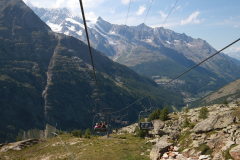 Rückfahrt mit Sessellift von Heidbodme nach Furggstalden