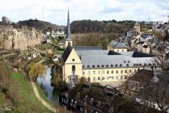 Blick auf die Altstadt von der Burg Lucilinburhuc