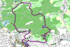 GPS-Track Bensberger Schlosswegs (Streizug Nummer 13)