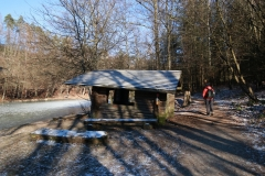 Bensberger Schlosswegs (Streizug Nummer 13) - Hütte am Milchborntalweiher