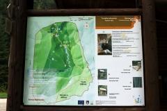 Übersichtstafel des Landschaftsschutzgebiets Bijambare