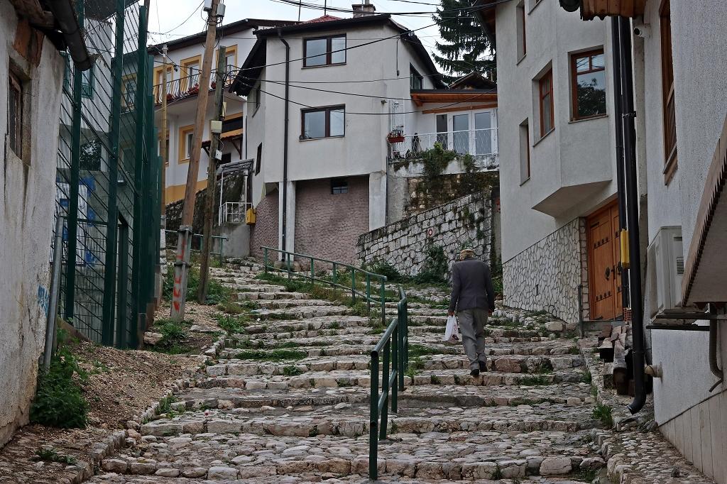 Rückweg zum Aziza Hotel in Sarajevo
