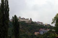Blick von der Šeherćehaja Brücke in Sarajevo