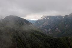 Blick auf den Perucica Urwald vom Vidikovac Beškita im Sutjeska-Nationalpark