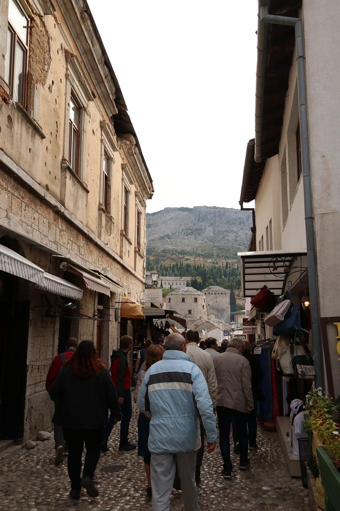 Auf dem Weg zur Stari most
