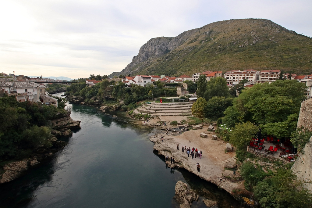 Blick von der Stari most auf die Neretva