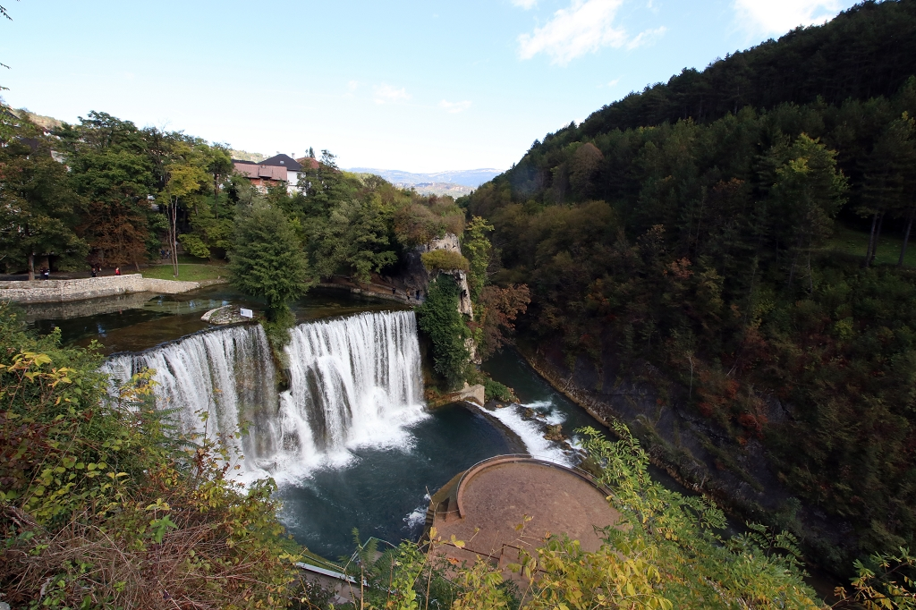 Wasserfall in Jajce