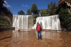 Aussichtsplattform auf den Wasserfall in Jajce