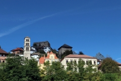 Blick auf die Altstadt von Jajce