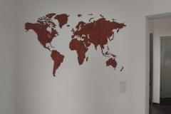 Projekt Weltkarte im Flug anbringen - geglückt