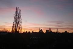 Sonnenuntergang auf unserem Balkon