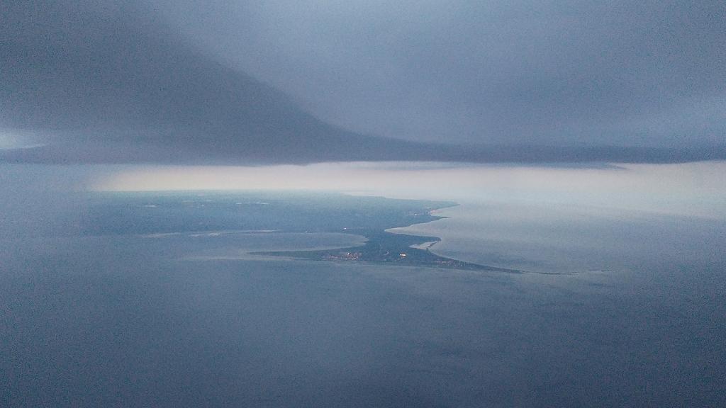 Blick auf Kopenhagen und die Gewitterfront