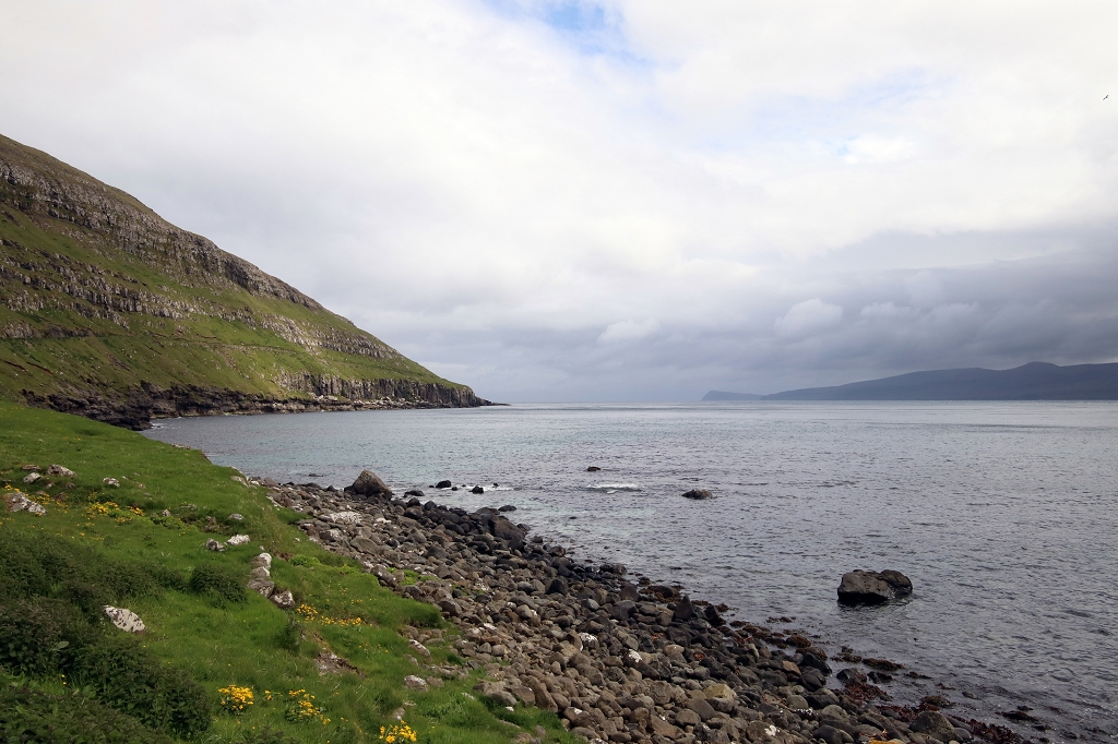 Zauberhafter Ausblick auf das Meer in Kirkjubøur