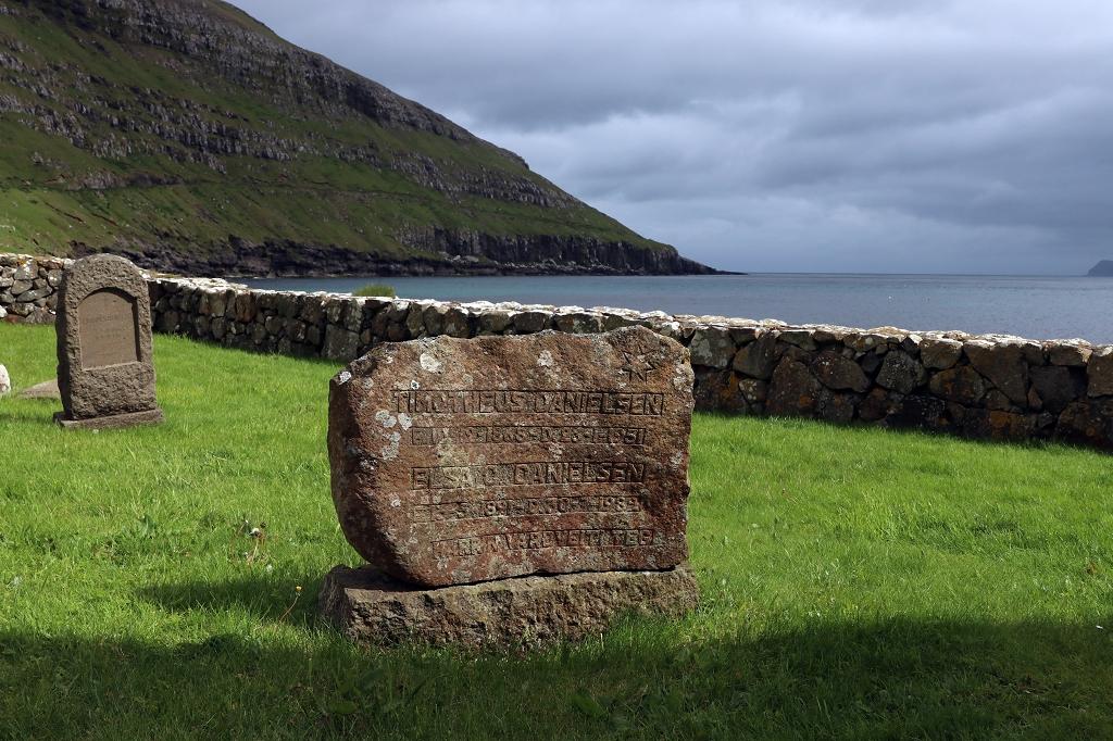 Alter Friedhof in Kirkjubøur