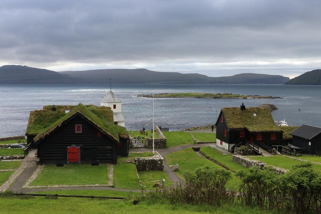 Blick auf Kirkjubøur