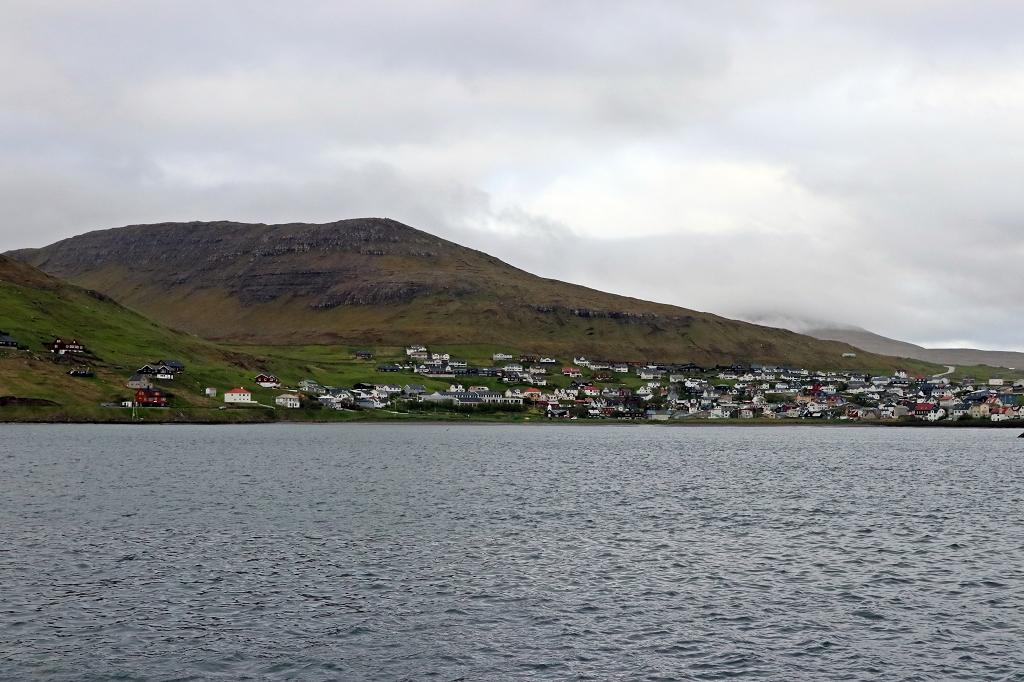Blick auf Sørvágur