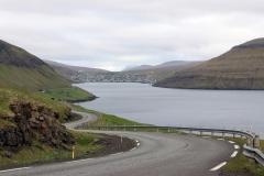Blick auf den Sørvágsfjørður, Färöer