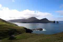 Sørvágsfjørður und Drangarnir