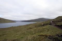 Blick auf Sørvágsvatn/Leitisvatn