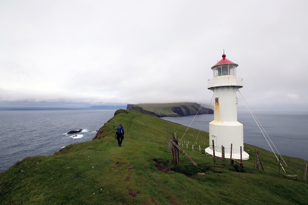 Leuchtturm auf Mykineshólmur, Färöer