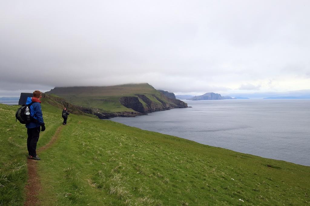 Wanderweg auf Mykineshólmur, Färöer