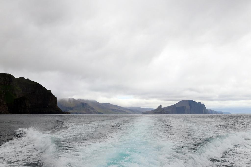 Blick auf die Färöer