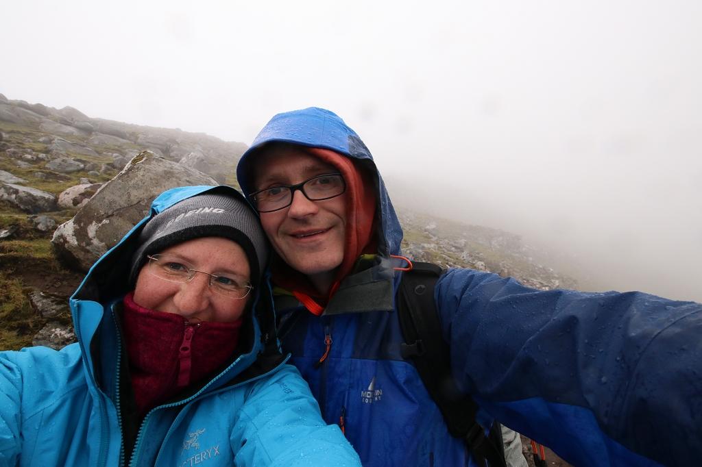 Wind und Regen konnten uns die Laune nicht verderben