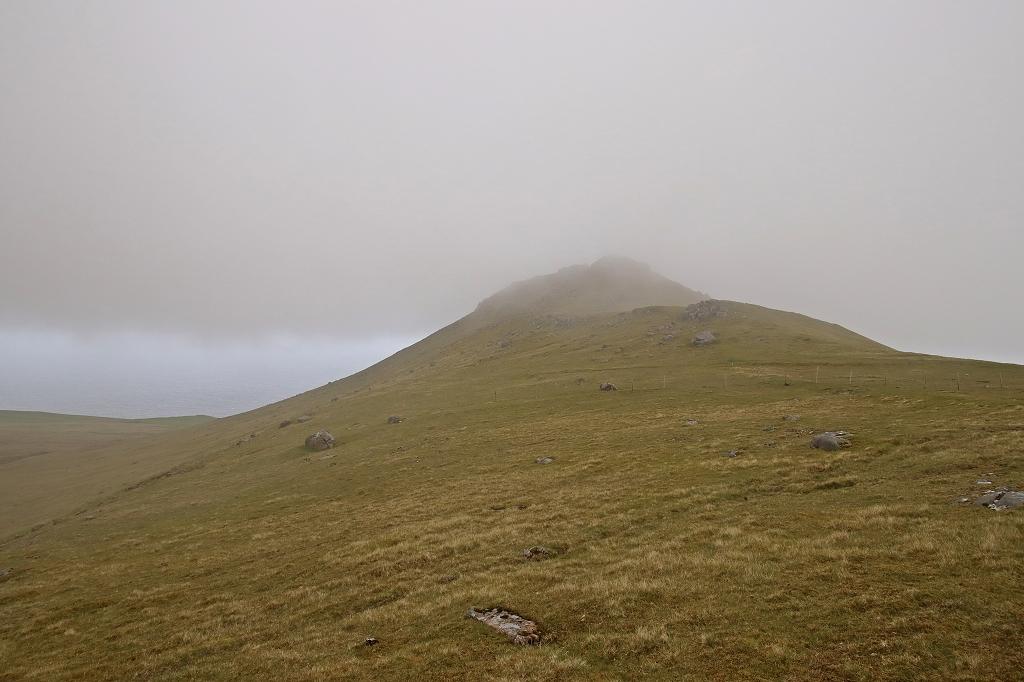 Durch den Nebel auf den Fjallið
