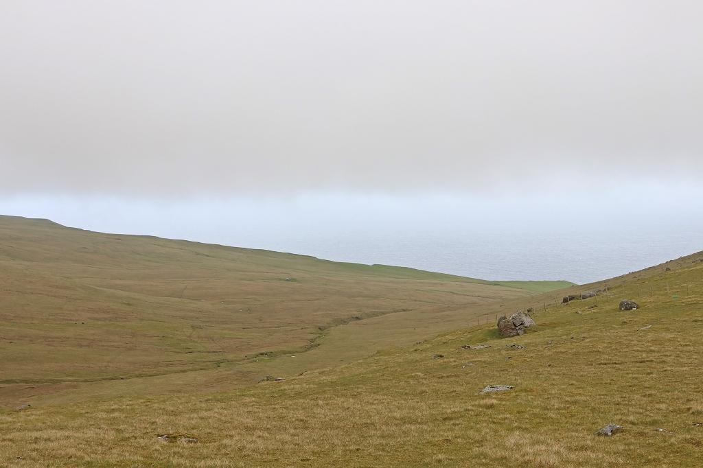 Sattel zwischen Fjallið und Nøvin