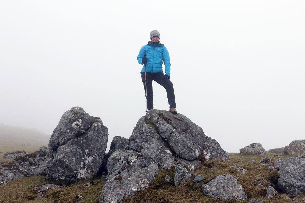 Auf dem Gipfel des Fjallið