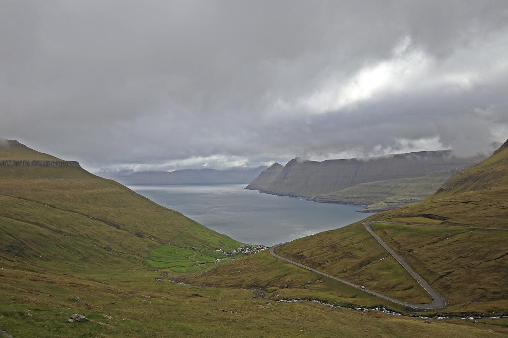Ausblick auf den Funningsfjørður
