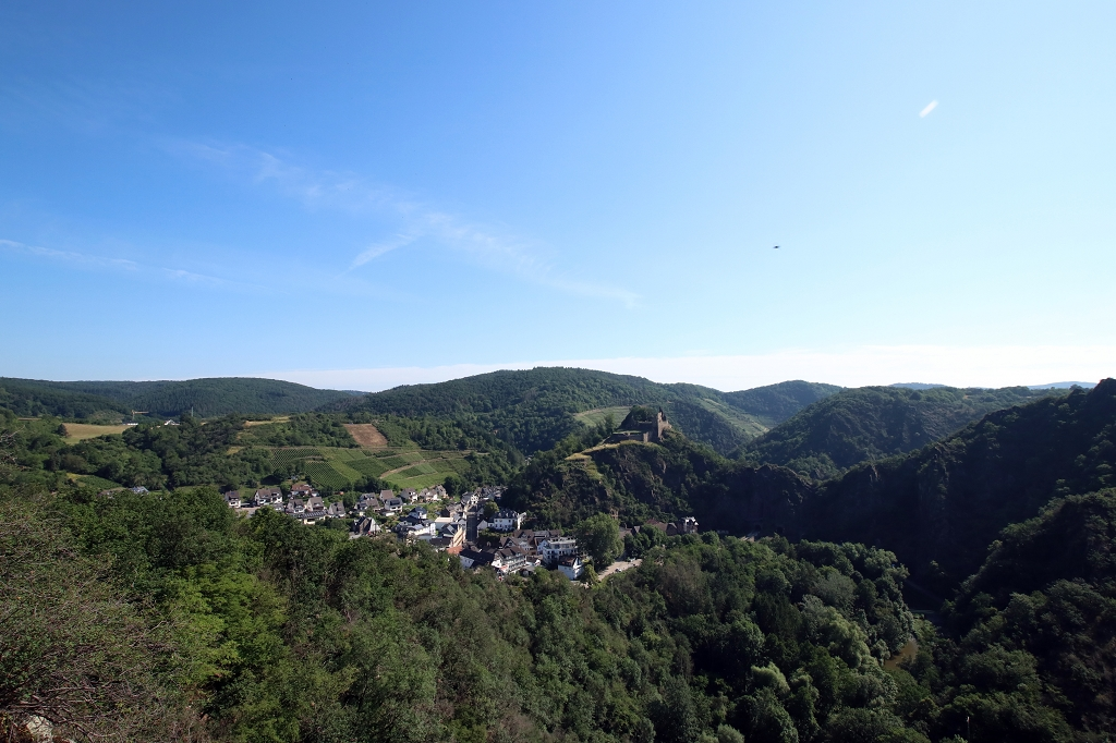 Blick vom Teufelsloch in Altenahr