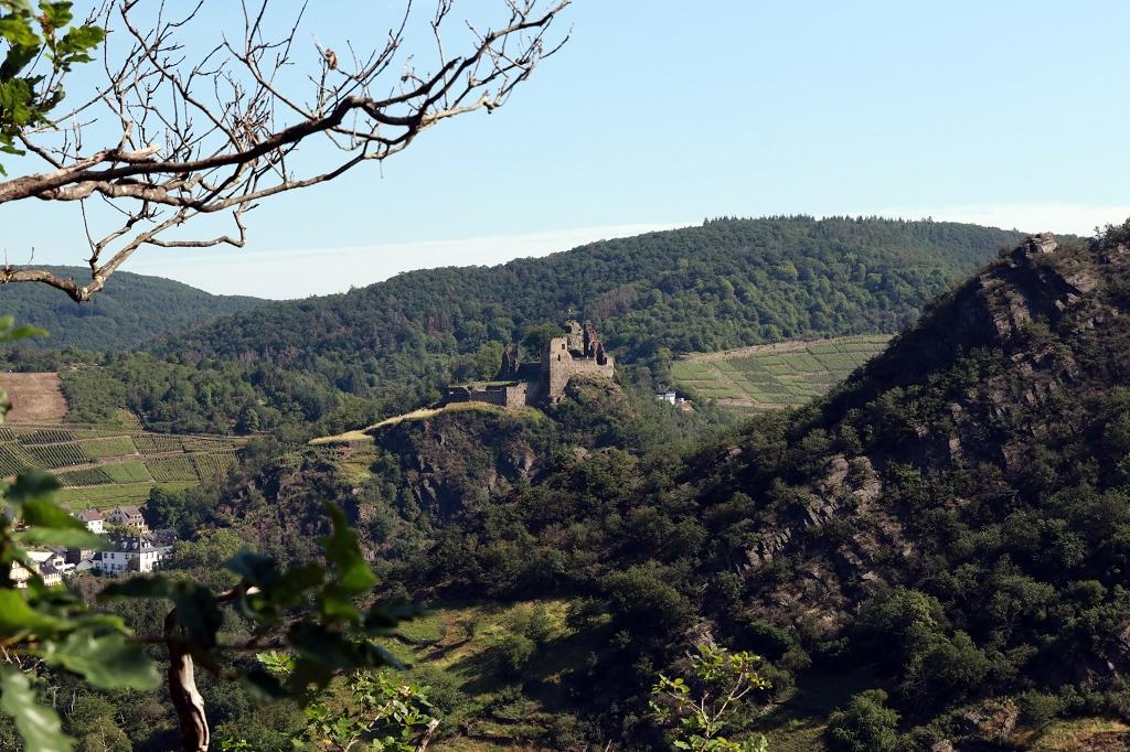 Abenteuerwanderung in Altenahr im Ahrtal - Blick auf die Burgruine Are