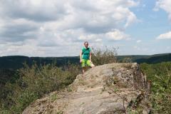 Abenteuerwanderung in Altenahr im Ahrtal  - Kurz vor dem Gipfel des Teufelsley