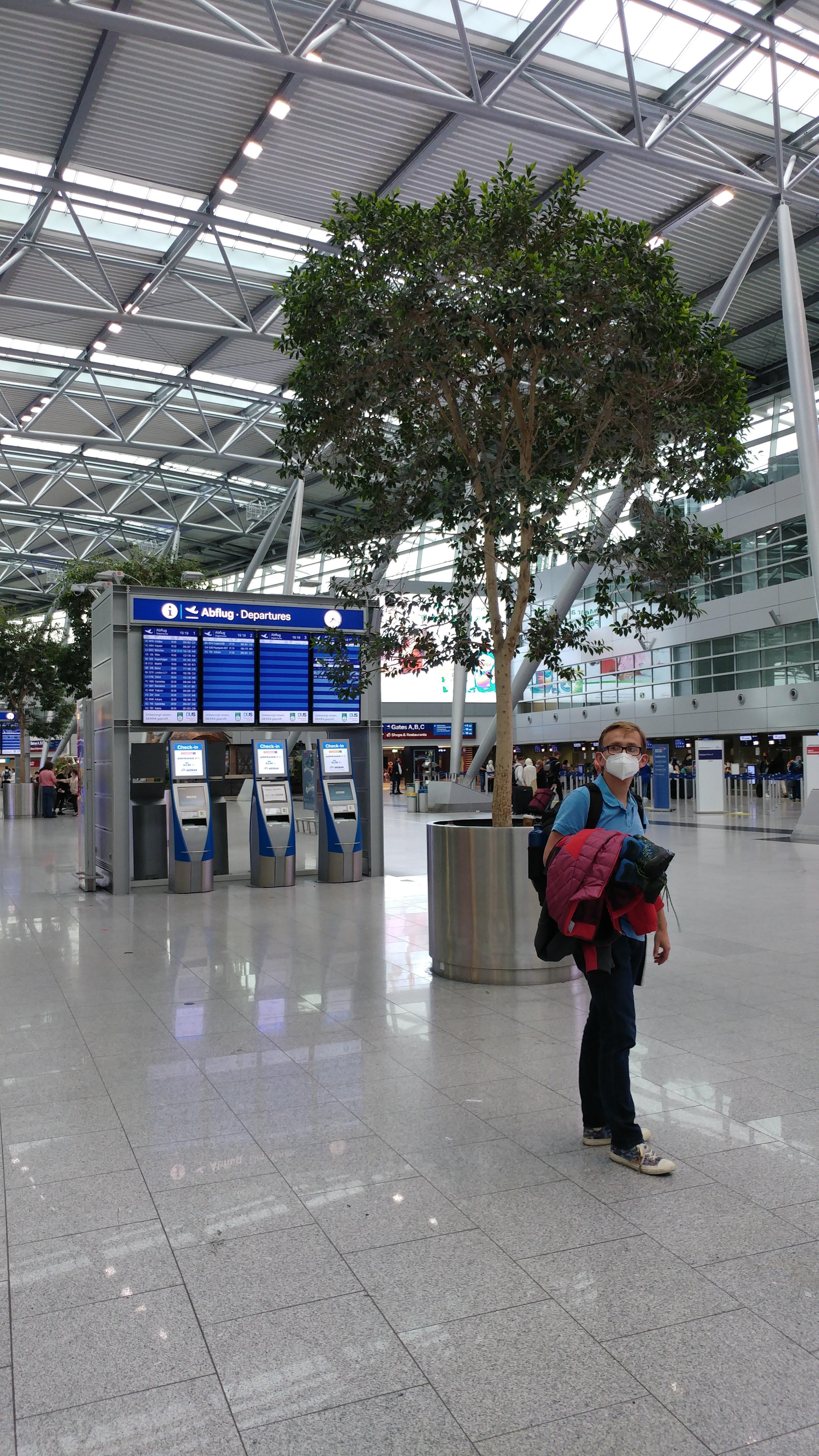 Flughafen Düsseldorf im Juli 2021