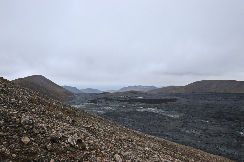 Blick über das Lavafeld am Fagradalsfjall