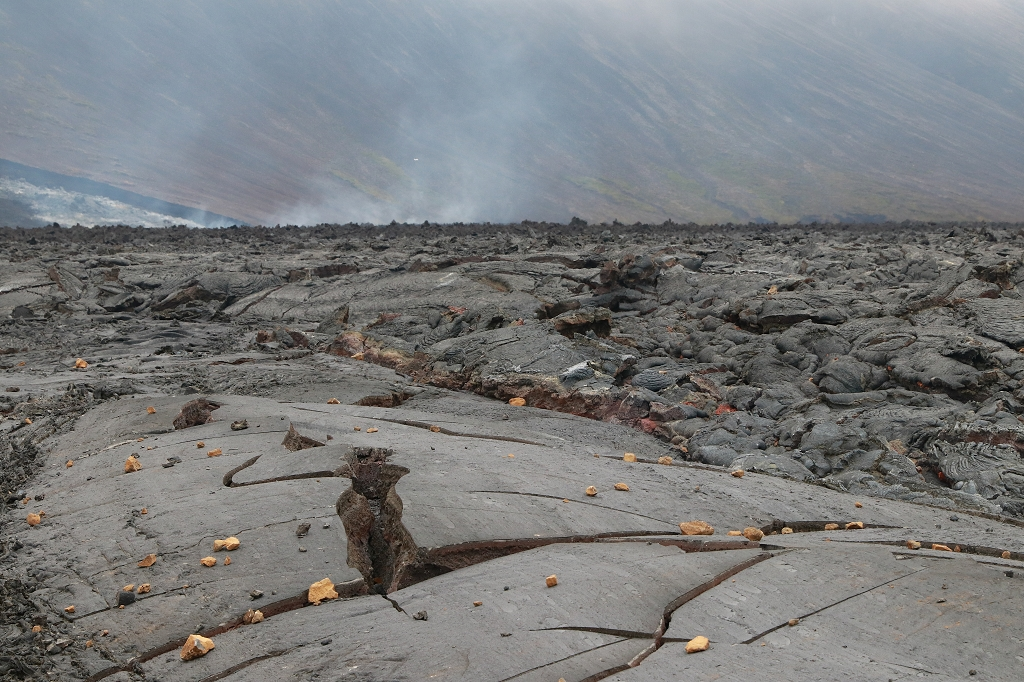 Lavafluss im Nátthagi Tal am Fagradalsfjall