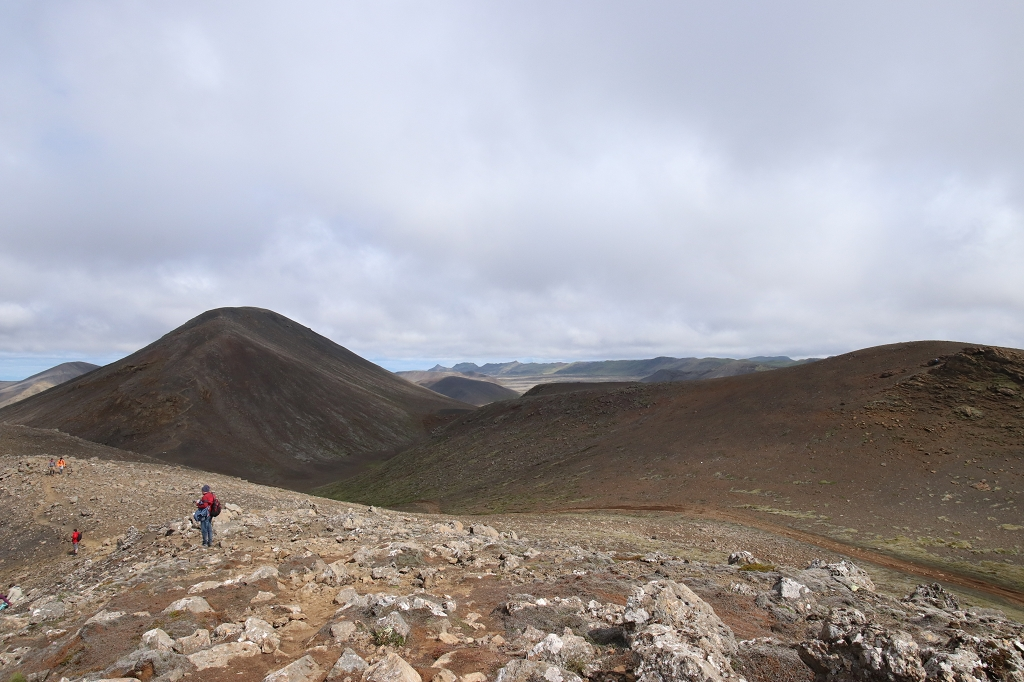 Aufstieg vom Stóri-Hrútur zum Langihryggur