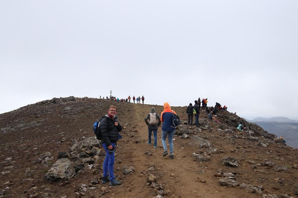Kurz vor dem Gipfel des Langihryggur