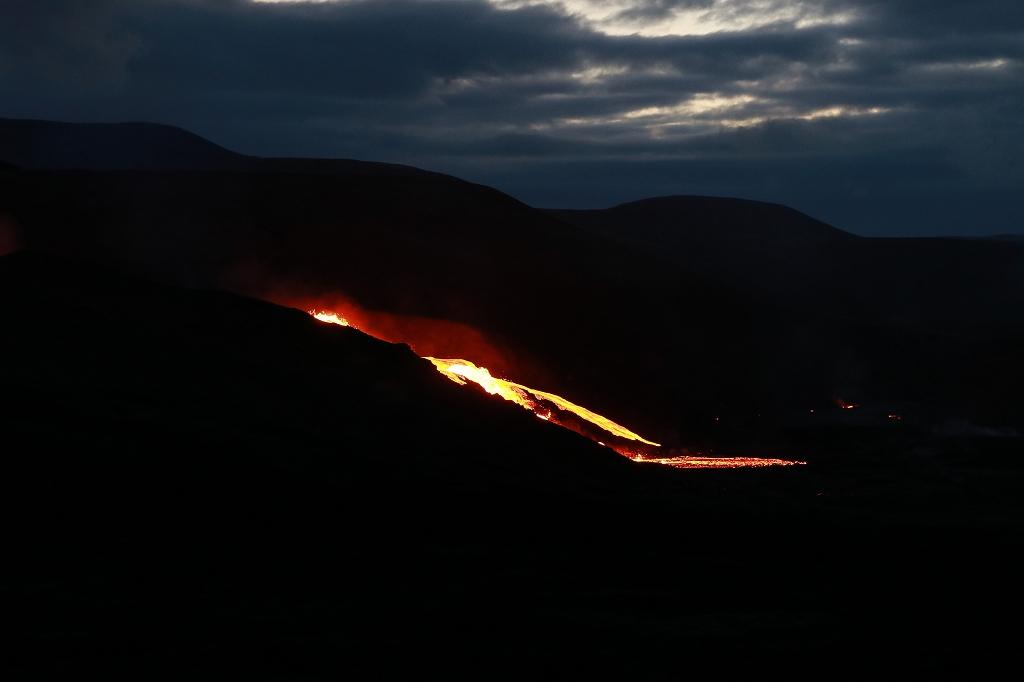Lavastrom im Meradalir-Tal am Fadragalsfjall