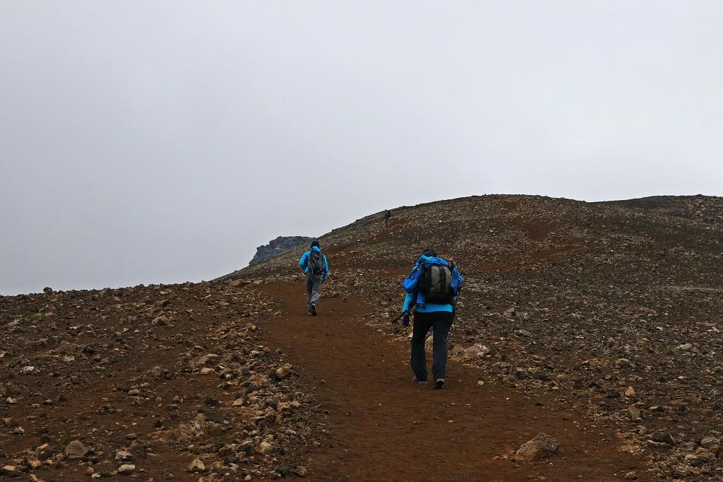 Aufstieg zum Langihryggur