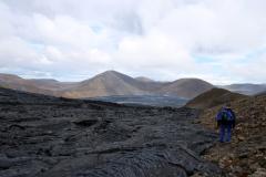 Abstieg in das Meradalir-Tal