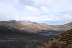 Lavafluss von der Eruption am Fagradalsfjall